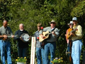 Bluegrass band playing at Oak Grove
