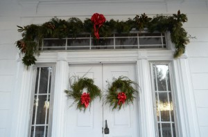 Christmas on the door