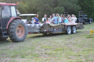 Hayride to wedding