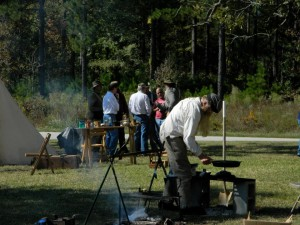 Revolutionary and Civil War camp demonstrations