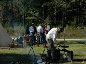 Revolutionary and Civil War camp demonstrations