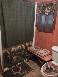 Seated shower area